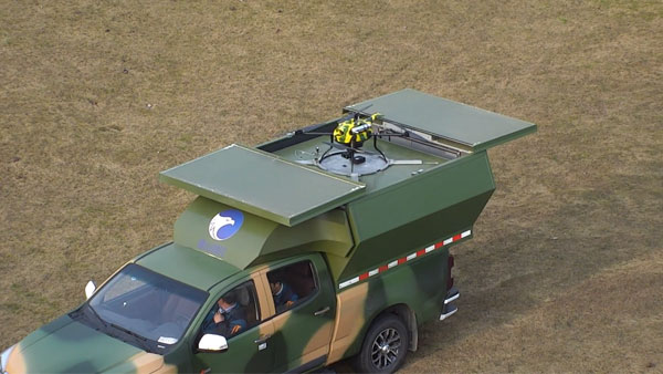mobile uav center vehicle