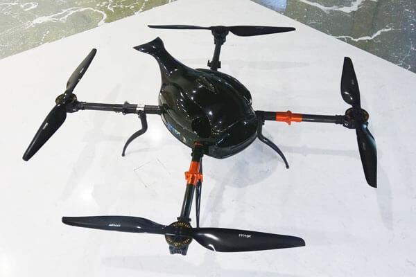 Gas-Electric Hybrid quadcopter