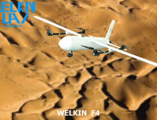 WELKIN-F4 Fixed Wing VTOL Gas-Electric Hybrid UAV